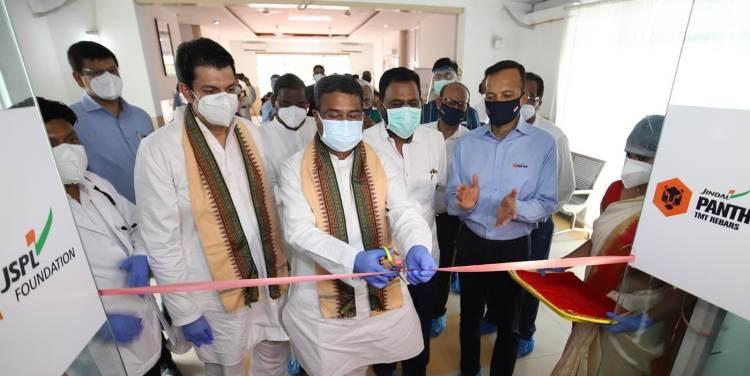 Pradhan dedicates COVID Care Centre at JSPL Plant Angul in Odisha