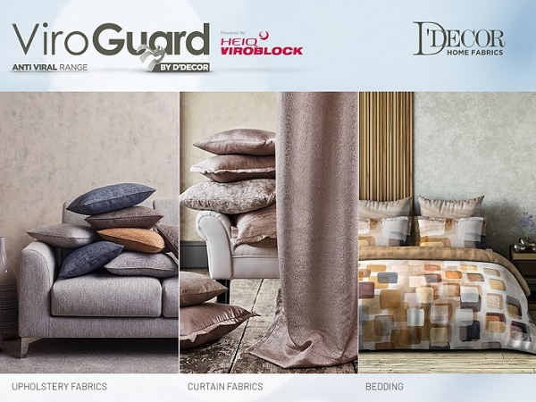D'Decor teams up with HeiQ to launch antiviral range and air purifying range of Furnishing Fabrics