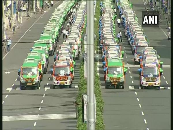 Andhra CM launches fleet of 1,088 ambulances