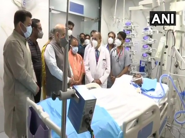Amit Shah enquires about health of former CM Kalyan Singh at Lucknow hospital