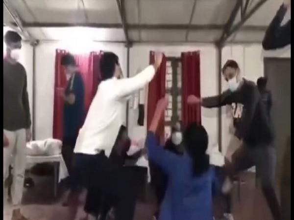 Students rescued from China dance at Manesar coronavirus isolation facility