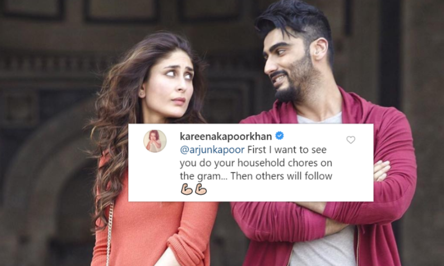 Kareena Kapoor trolls Arjun Kapoor as he urges fans to do their household chores