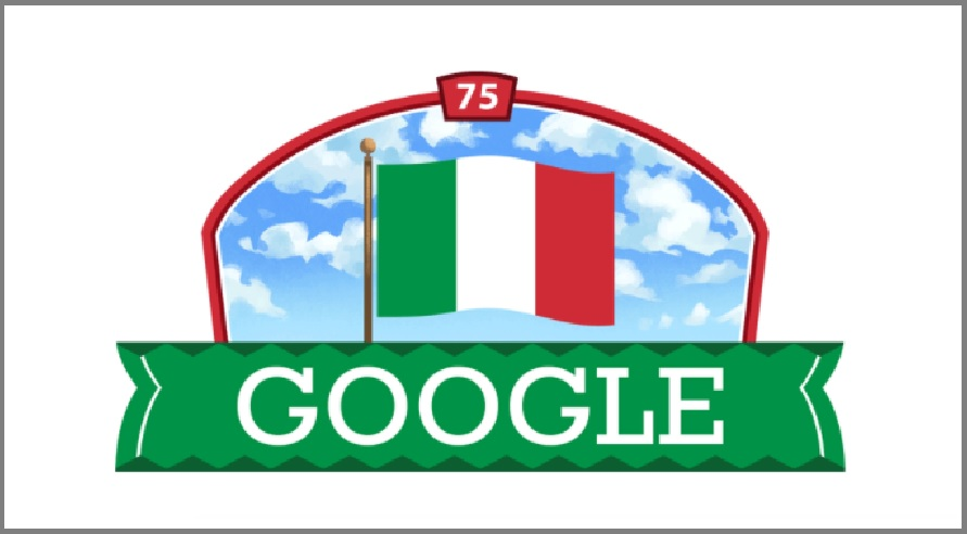 Google Doodle to commemorate 75th Republic day of Italy