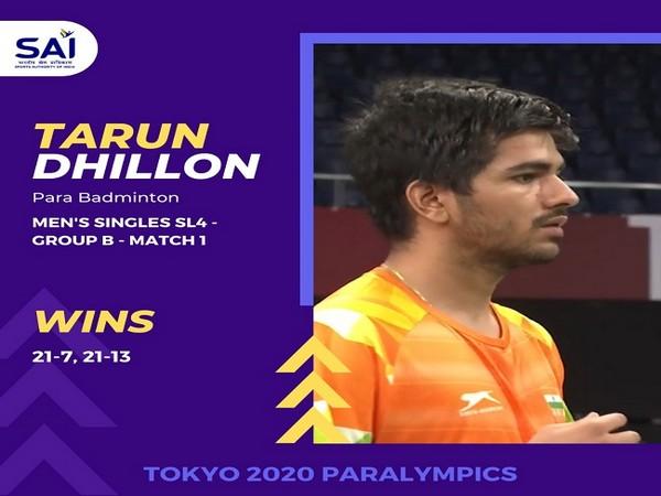 Tokyo Paralympics: India's Tarun Dhillon beats Thailand's Teamarrom in men's singles SL4 group stage
