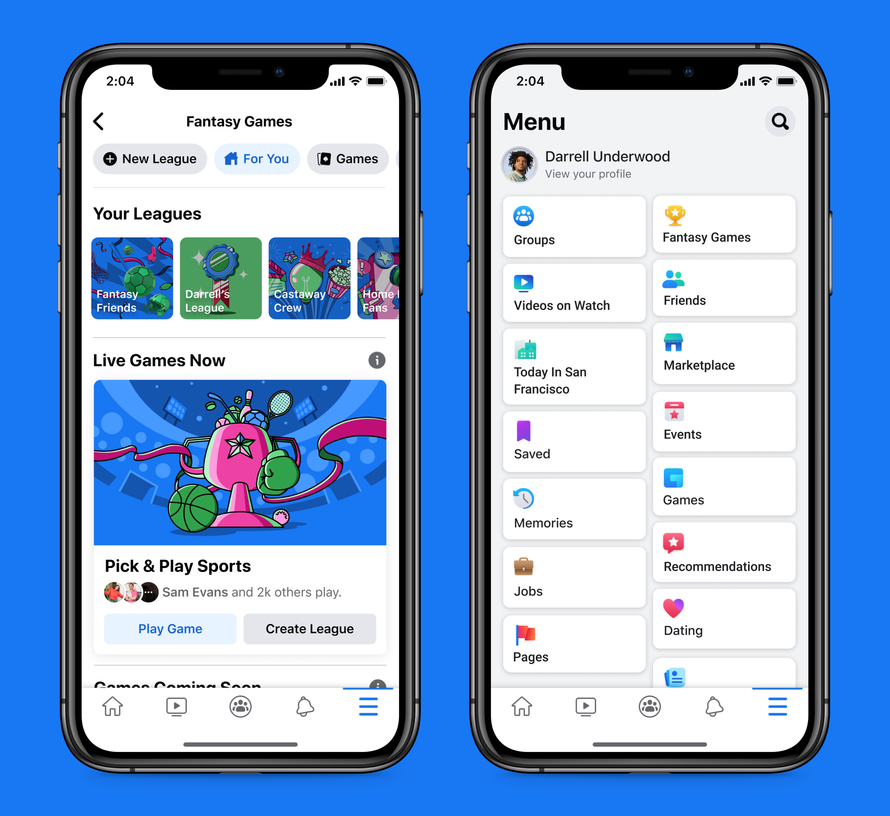 Facebook rolls out Fantasy Games for iOS and Android users in US and Canada