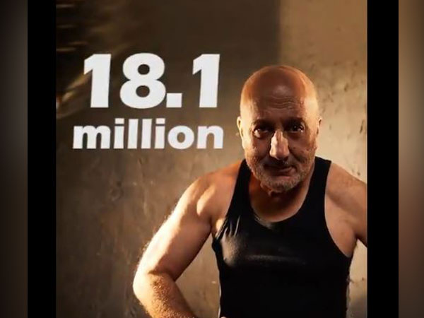 Anupam Kher extends 'big thank you' to fans as he hits 18.1 million mark on Twitter