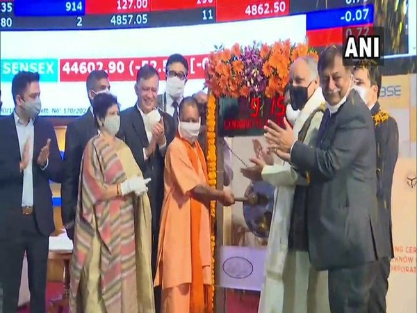 Yogi Adityanath rings bell at BSE at listing of Lucknow Municipal Corporation bonds