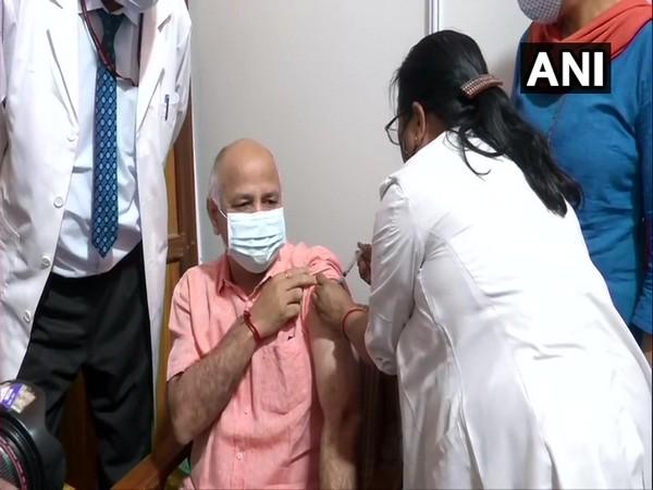 Deputy CM Manish Sisodia, wife get first dose of COVID-19 vaccine