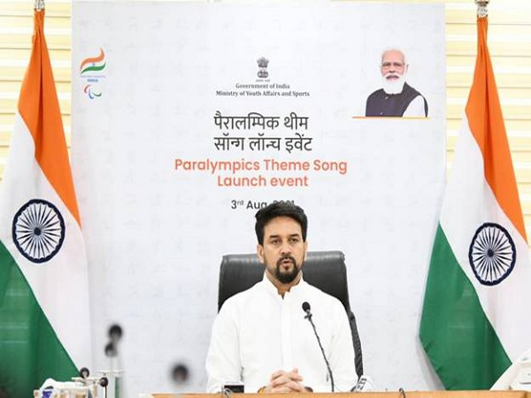 Sports Minister Anurag Thakur launches Paralympic theme song