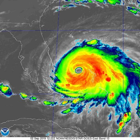 Tropical storm nears northern Bahamas, complicating Dorian relief