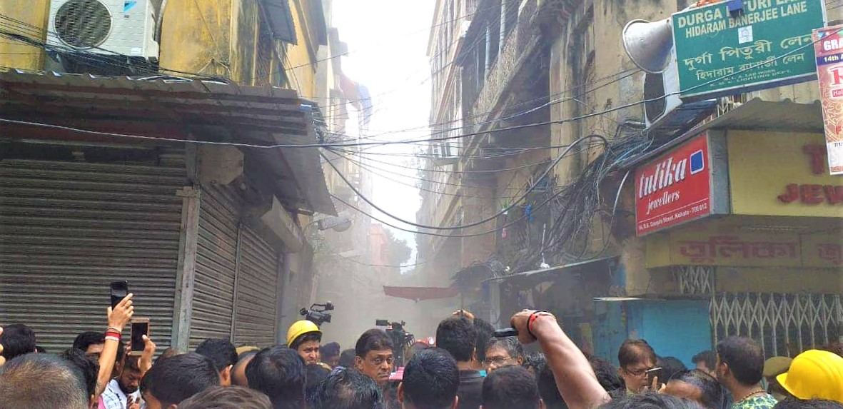 Kolkata: Building collapses entirely in Bowbazar; area was evacuated