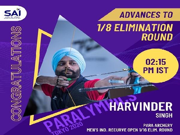 Tokyo Paralympics: Indian archer Harvinder advances to 1/8 elimination round