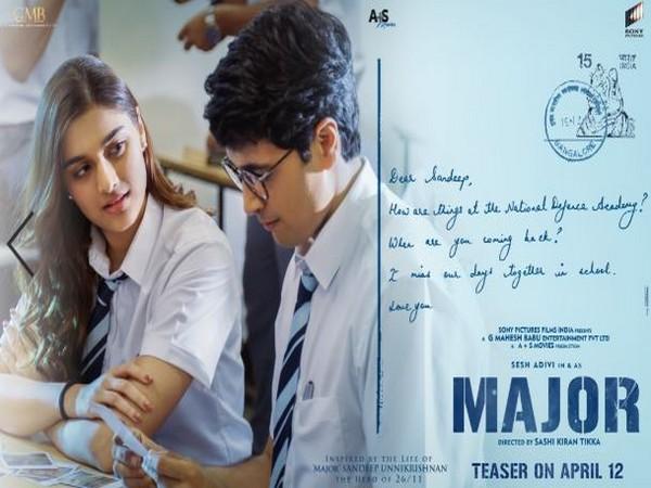 Saiee Manjrekar's first look unveiled from Sandeep Unnikrishnan's biopic 'Major'