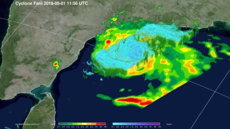 NASA scientists reveal heavy rainfall in Tropical Cyclone Fani