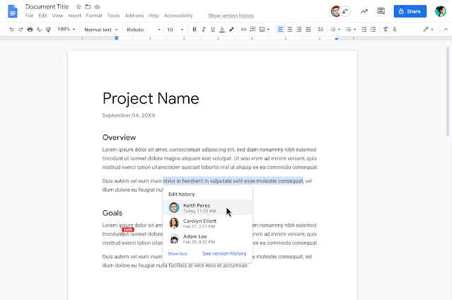 New Google Docs feature makes it easier to track edits made by multiple collaborators
