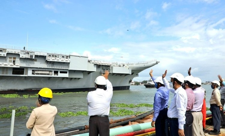 Sonowal hails launching of sea trials of aircraft carrier 'Vikrant'