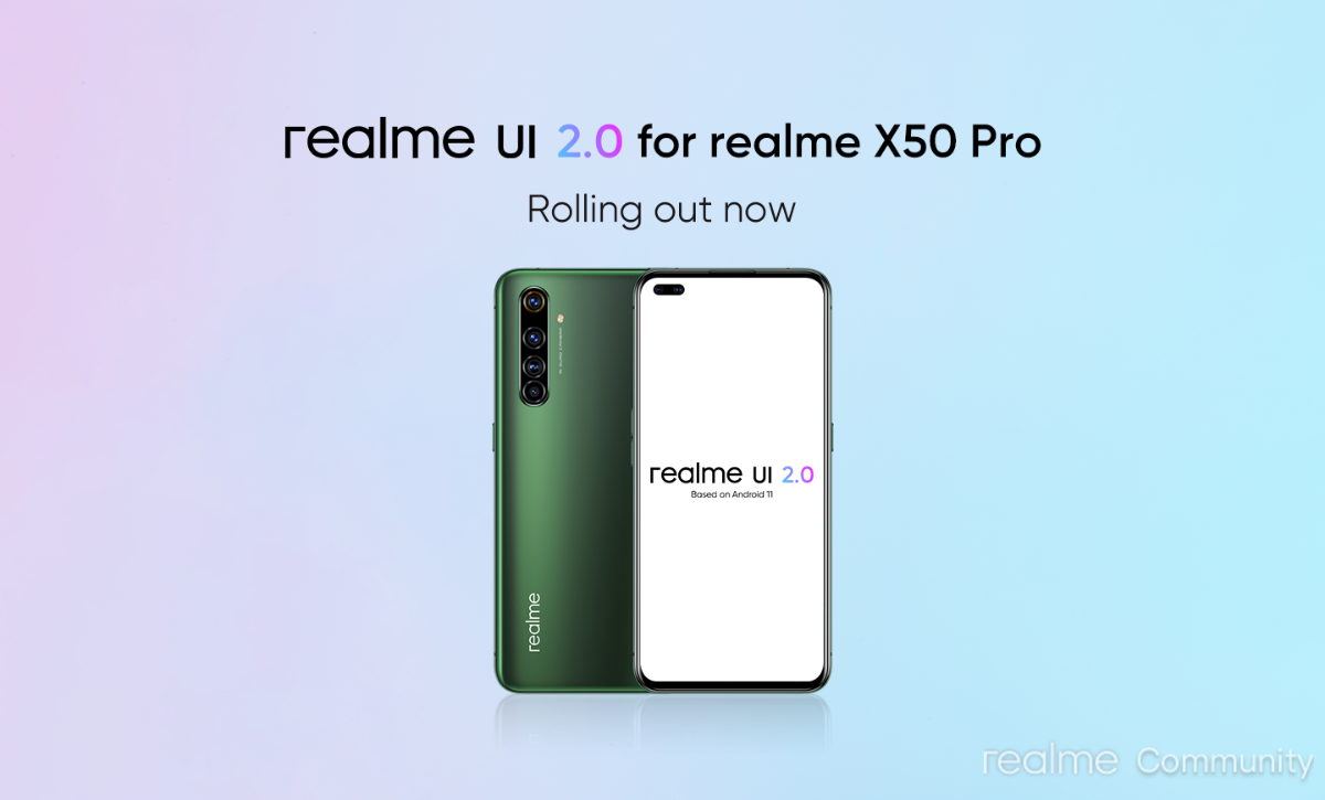 Android 11-based realme UI 2.0 rolling out to X50 Pro