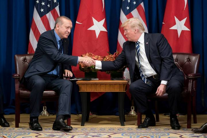 UPDATE 6-Despite 'wonderful' meeting, Trump and Erdogan fail to resolve conflicts