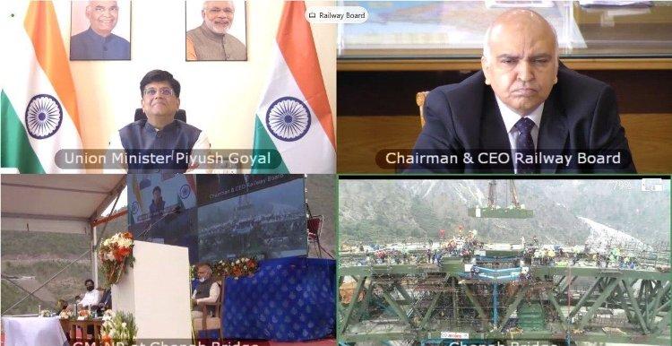 Indian Railways complete Arch closure of iconic Chenab Bridge