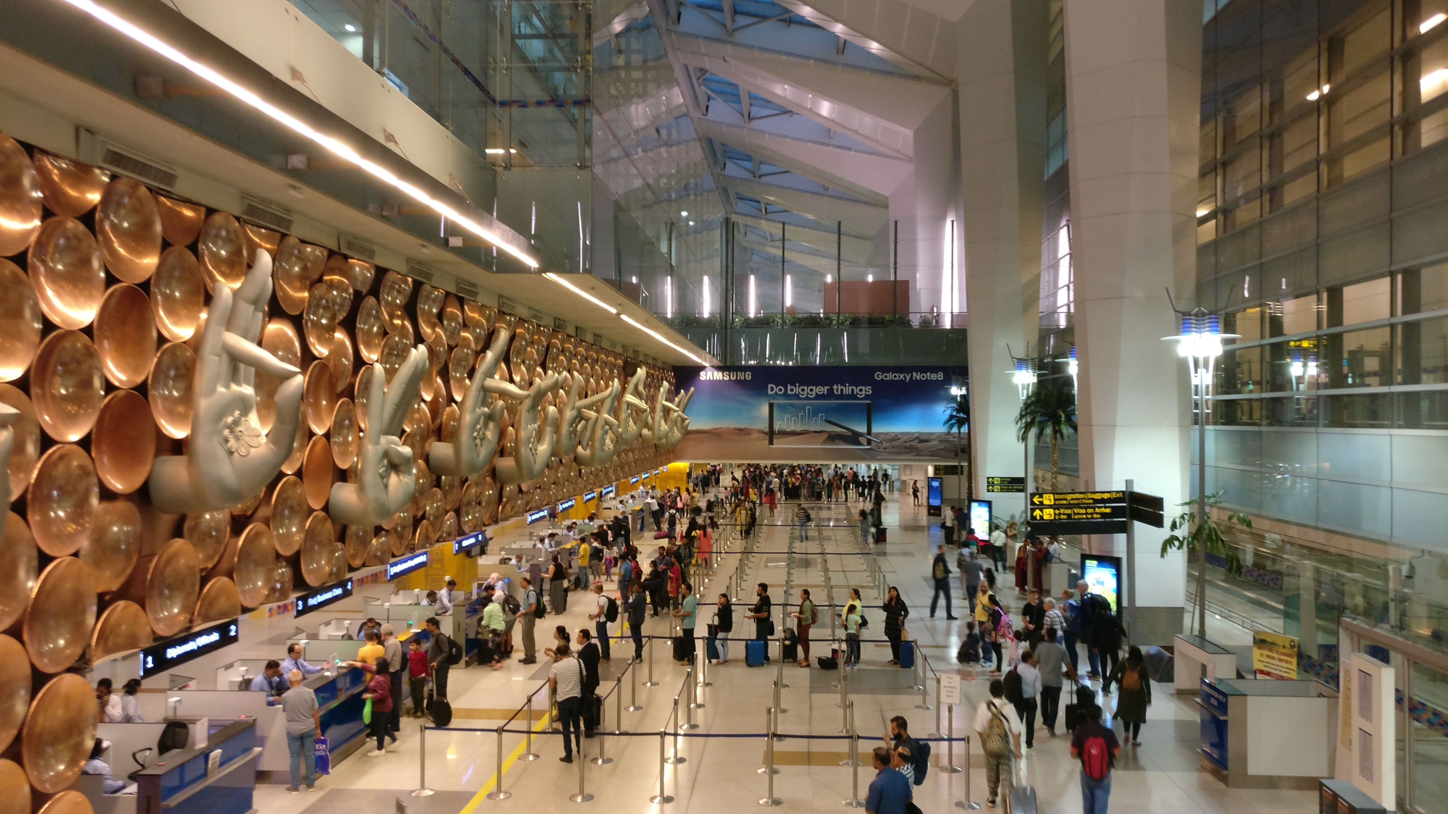 IGI Airport: Need to arrive 3 hours before for domestic flight and 4 hours for international