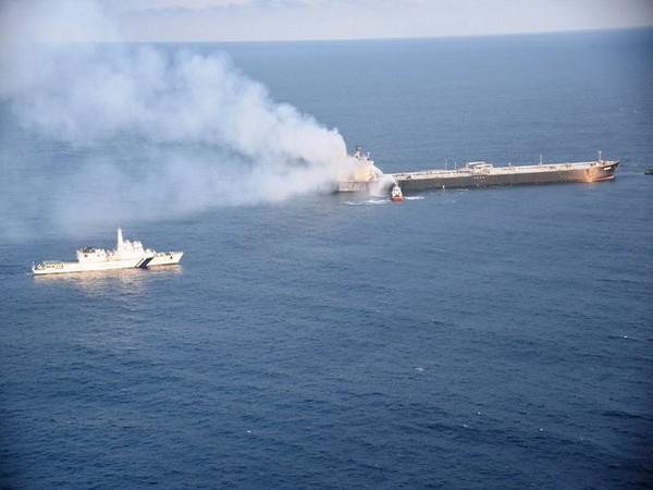 Fire extinguished on oil tanker off Syria after suspected drone attack