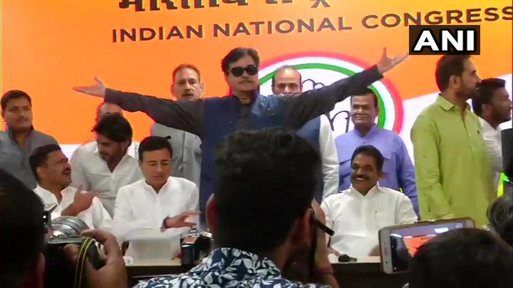 Rebel BJP leader Shatrughan Sinha joins Congress