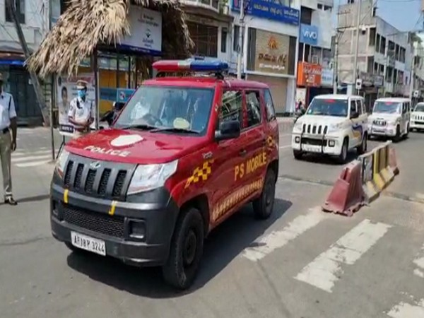 Andhra Police holds COVID-19 awareness rally as state observes partial lockdown