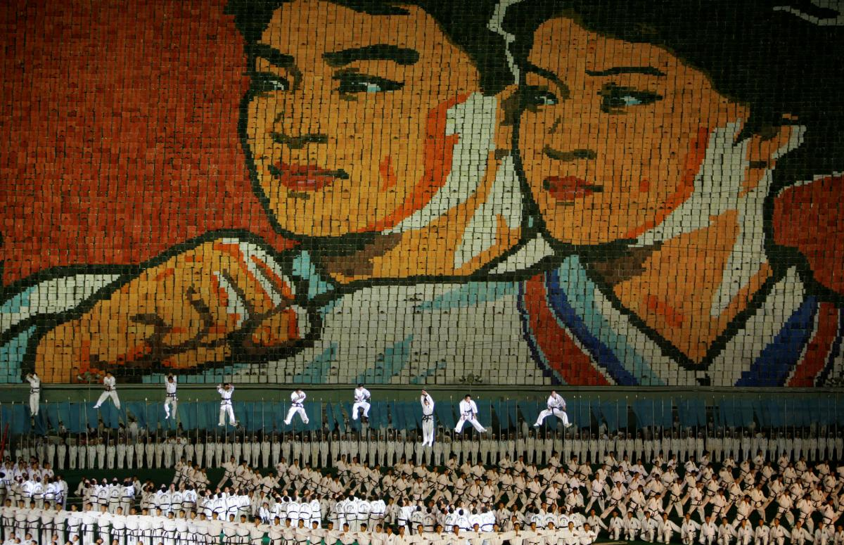 """N.Korean """"Mass Games"""" return with messages of reconciliation"""