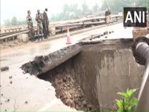 Birmah bridge collapses due to heavy rainfall in J-K