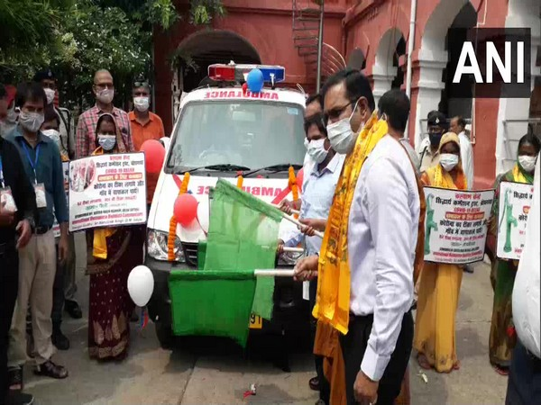 District administration flags off free ambulance service for 10 fully COVID vaccinated villages in Bihar's Gaya
