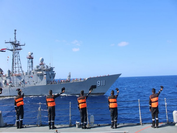 INS Tabar conducts maritime partnership exercise with Egyptian Navy