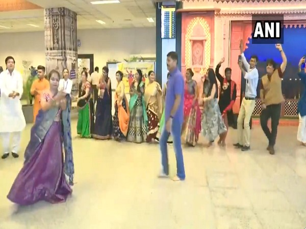 Ahmedabad: Garba held at Sardar Vallabhbhai International airport