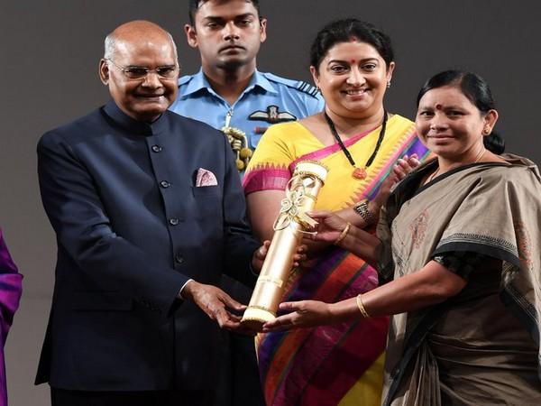 Padala Bhudevi receives Nari Shakti Puraskar