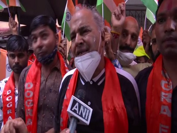 Dogra Front protests over appointment of separatist leader Masarat Alam Bhat as Hurriyat Chairman