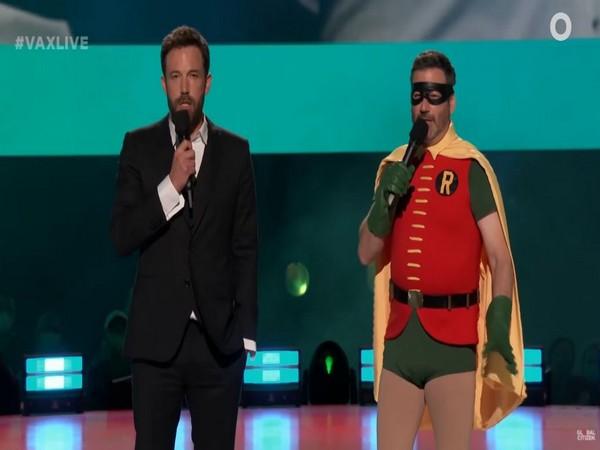 Ben Affleck,Jimmy Kimmel  suit up for 'Vax Live'