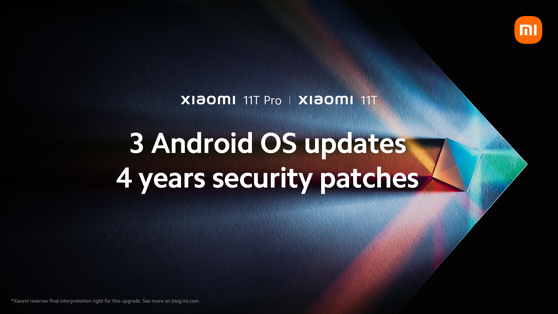 Xiaomi 11T series to get 3 Android OS upgrades, 4 years of security patches