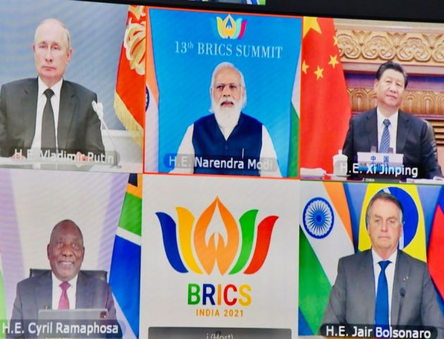 PM Modi calls for BRICS cooperation under motto of 'Build-back Resiliently, Innovatively, Credibly and Sustainably'