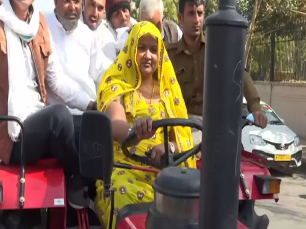 Rajasthan Congress MLA reaches state assembly on tractor to support protesting farmers