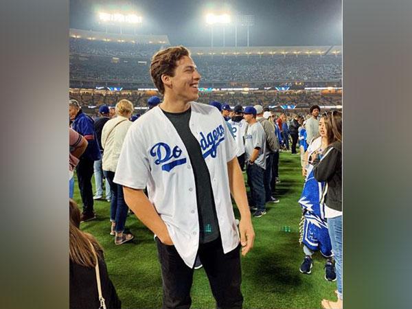 Joseph Baena congratulates half-sister Katherine Schwarzenegger on wedding