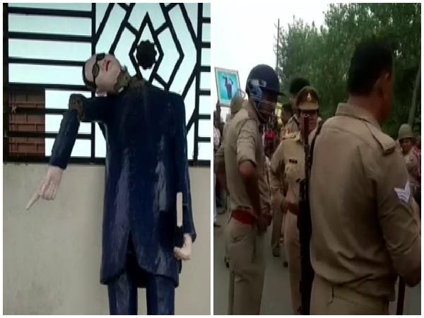 Saharanpur: Ambedkar statue vandalised in Ghunna village by miscreants