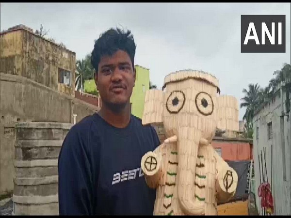 Odisha-based artist crafts Ganpati idol with over 5000 matchsticks to mark Ganesh Chaturthi