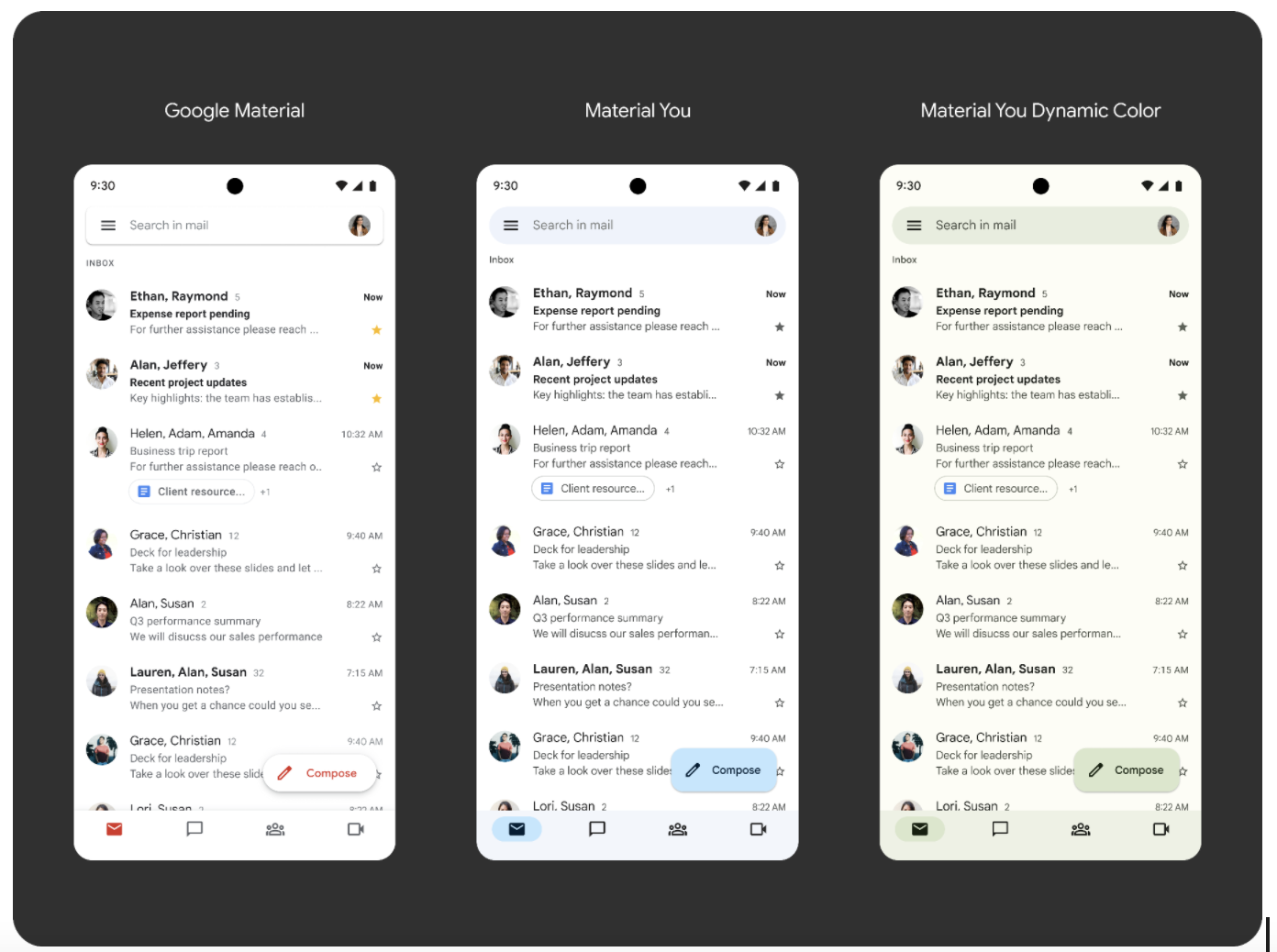 Google rolling out Material You design for Workspace apps on Android