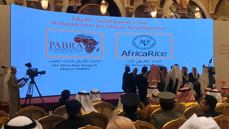 Africa Rice, Pan Africa Bean Research Alliance receive Al Sumait Prize