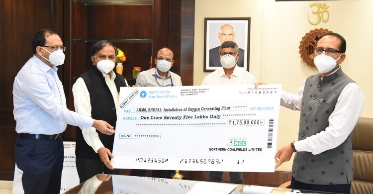 NCL contributes Rs. 10Cr to Madhya Pradesh to set up 5 oxygen plants