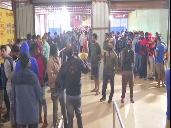 Bengaluru: People queue up for biryani at Hoskote eatery