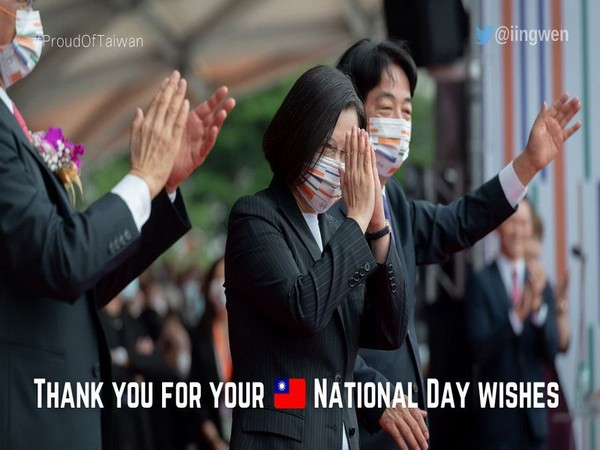 Taiwan leader thanks 'Friends in India' for National Day wishes