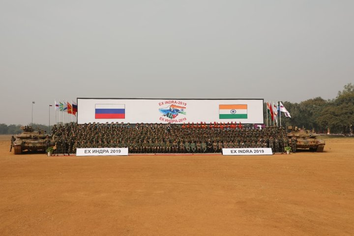 Tri-service exercise INDRA- 2019 between India and Russia conducts