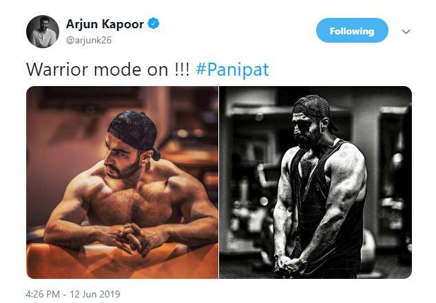 Arjun Kapoor turns 'warrior mode on'