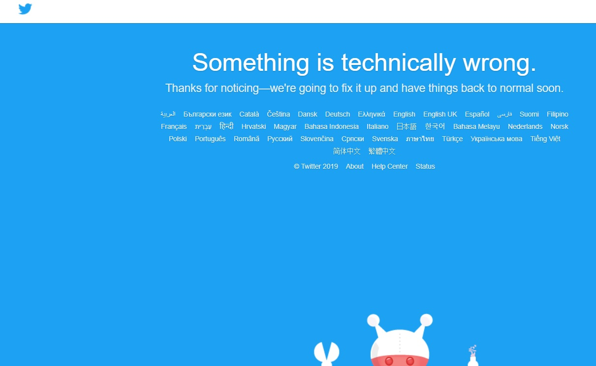 UPDATE 1-Twitter down, suffers widespread outage