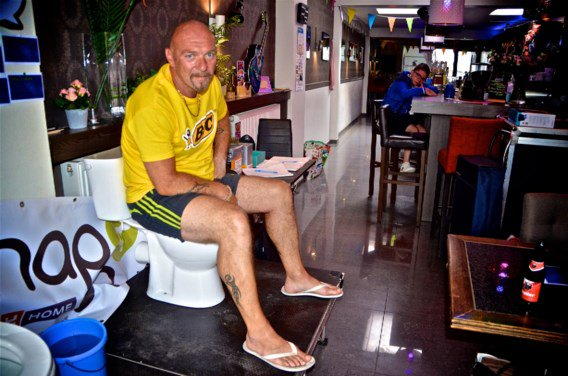 The longest toilet break? Belgian sits for five days in bid for record